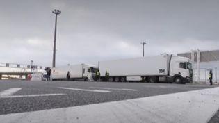 Brexit : une frontière européenne rétablie à Calais. (Capture d'écran/France 3)