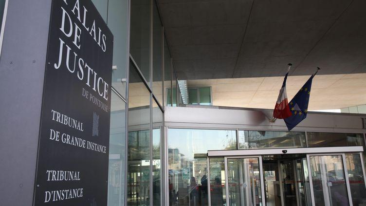 Le palais de justice de Pontoise, dans le Val-d'Oise, en 2017. (MAXPPP)