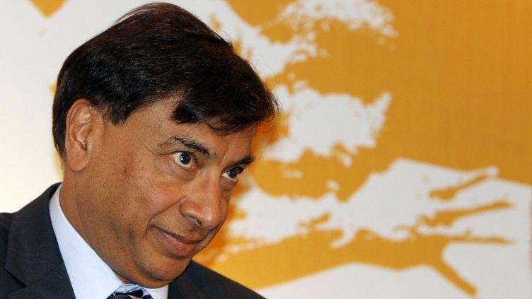 Lakshmi Mittal, patron d'ArcelorMittal, à NewDelhi, en Inde, le 31 mars 2012. (B MATHUR / REUTERS)