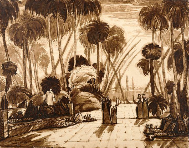Andre Maire, Basse Egypte, Jardins de la citadelle du Caire