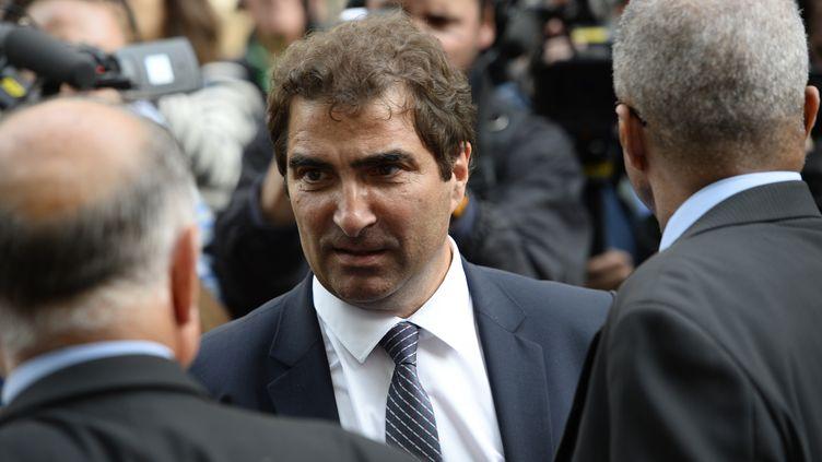Christian Jacob, président du groupe UMP de l'Assemblée nationale, à son arrivée au siège du parti à Paris, le 10 juin 2014. (ERIC FEFERBERG / AFP)