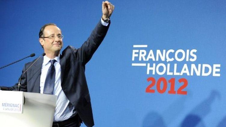 François Hollande à Mérignac (Gironde) (AFP)