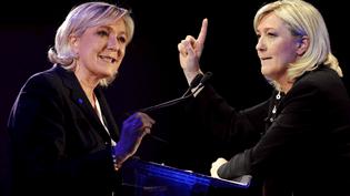 La présidente du Front national, Marine Le Pen, le 26 janvier 2017 (à gauche) et le 7 avril 2012 (à droite). (NICOLAS TAVERNIER / LAURENT CERINO / REA)