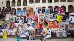 Les spectacles du Off d'Avignon font leur pub (le 5 juillet 2016)  (Bertrand Langlois / AFP)