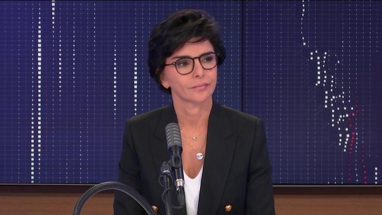 """Rachida Dati, ancienne Garde des sceaux, maire LR du 7e arrondissement de Paris, était l'invitée du """"8h30 franceinfo"""", vendredi 23 octobre 2020. (FRANCEINFO / RADIOFRANCE)"""