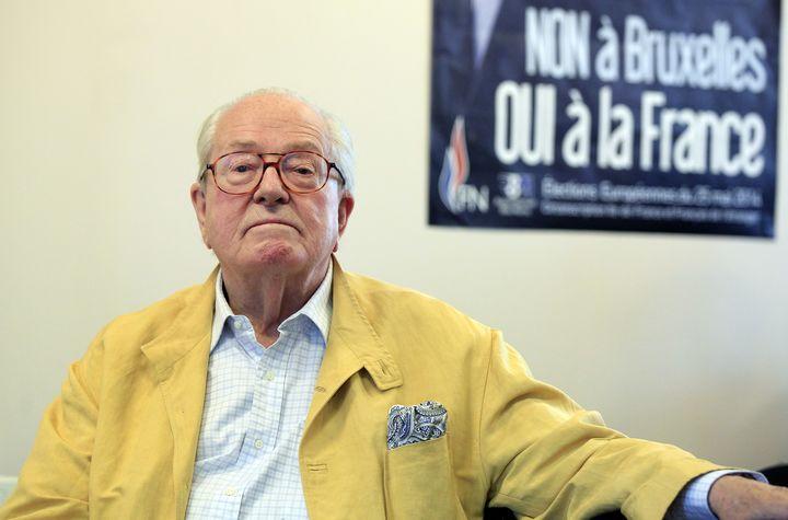 Jean-Marie Le Pen, ici en juin 2014, a effectué sept mandats de député européen. (CHESNOT / CORBIS HISTORICAL)
