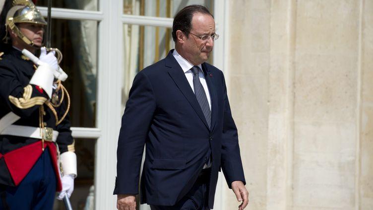 François Hollande le 19 juin 2014 au Palais de l'Elysée (ALAIN JOCARD / AFP)