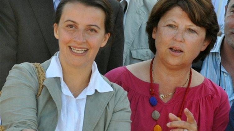 Martine Aubry et Cécile Duflot, en 2009 (AFP/PIERRE ANDRIEU)