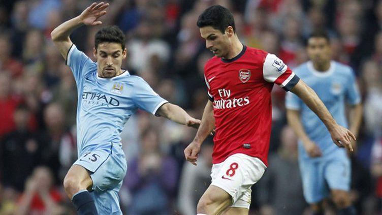 Arteta (Arsenal) face à Navas (Manchester City) (IAN KINGTON / AFP)