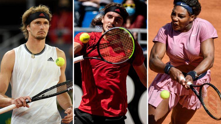 Alexander Zverev, Stefanos TsitsipasetSerena Williams sont au programme de cette quatrième journée à Roland-Garros. (AFP)