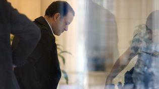 L'un des responsables de Bygmalion, Franck Attal, à Paris, le 9 octobre 2015. (FLORIAN DAVID / AFP)