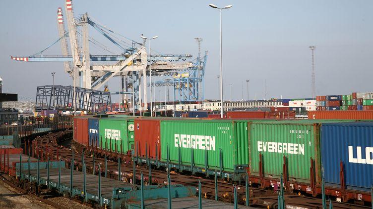 La zone portuaire de Zeebruges (Belgique). (MAXPPP)