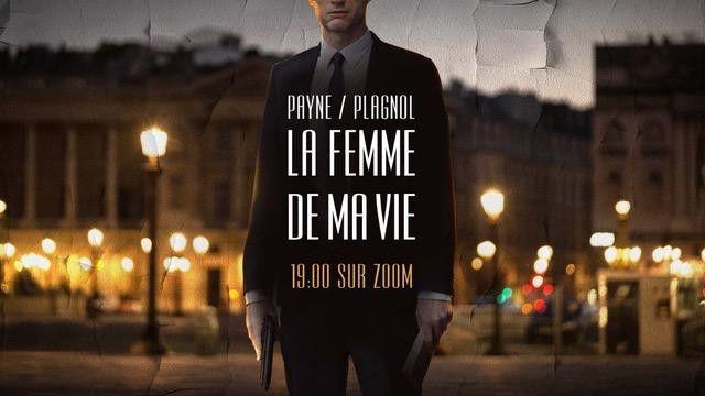 """Visuel pour """"La Femme de ma vie"""" de Andrew Pyane, interprété par Robert Plagnol, via la plateforme ZOOM, durant le confinement dû au Covid 19 en 2020. (© Pascal Lacoste)"""