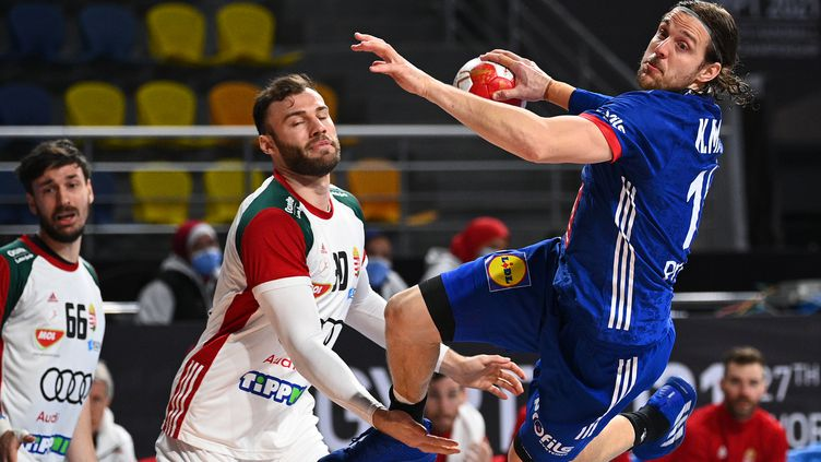 Kentin Mahé contre la Hongrie en quarts de finale du Mondial (Anne-Christine POUJOULAT / POOL / AFP) (ANNE-CHRISTINE POUJOULAT / POOL)