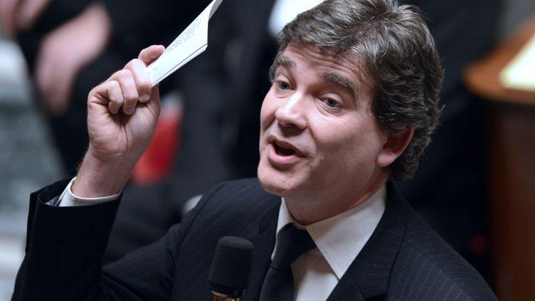 Le ministre du Redressement productif, Arnaud Montebourg,à l'Assemblée nationale, le 27 novembre 2012. (BERTRAND GUAY / AFP)