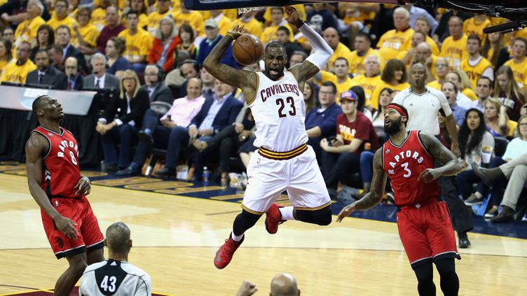 La rage de LeBron James (Cleveland) (ANDY LYONS / GETTY IMAGES NORTH AMERICA)