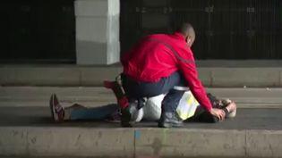 Une simulation d'attentat terroriste a été réalisée mardi 31 mai 2016 au Stade de France (Saint-Denis), 10 jours avant l'Euro de football. (FRANCE 2)