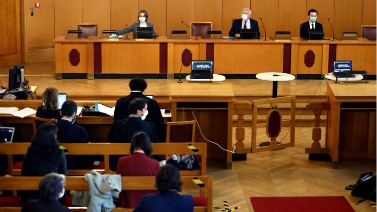 """L'audience de """"L'Affaire du siècle"""" débute au tribunal administratif de Paris, le 14 janvier 2021. (THOMAS COEX / AFP)"""