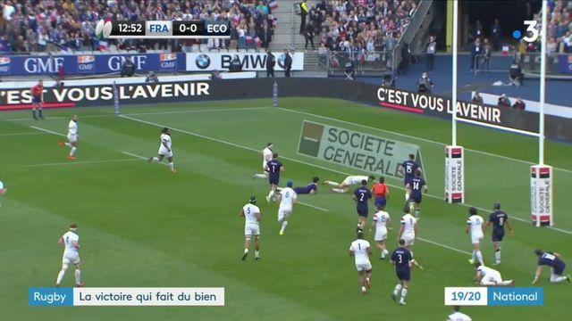 Rugby : les Bleus s'imposent face à l'Ecosse en Tournoi des six nations