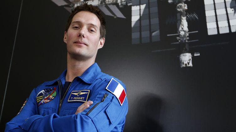 """Thomas Pesquet a été choisi pour participer à une mission de longue durée de novembre 2016 à mai 2017, appelée """"Proxima""""  (FRANCOIS GUILLOT / AFP)"""