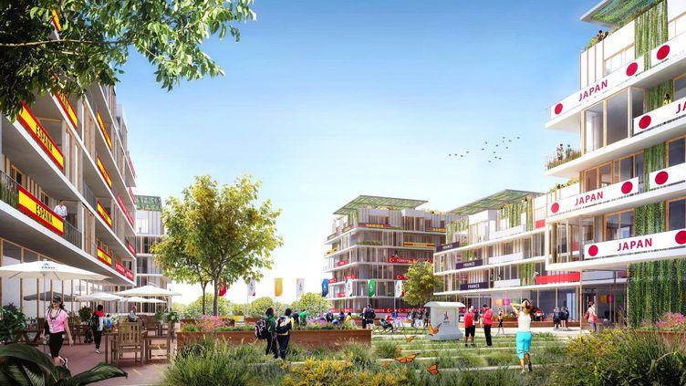 Le village olympique, où logeront les athlètes, sera installé non loin du Stade de France à Saint-Denis Pleyel (Seine-Saint-Denis), à 7 km de Paris. (PARIS2024)