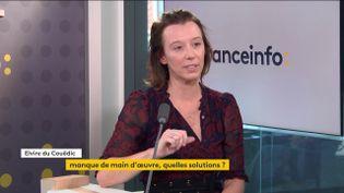 Elvire du Couëdic,directrice Emploi chez Nomad Education, était l'invitée de franceinfo jeudi 28 octobre 2021. (FRANCEINFO / RADIO FRANCE)
