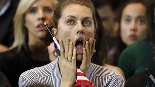 Les supporters de Clinton à la soirée électorale de New-York. (LUCAS JACKSON / REUTERS)