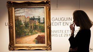 """""""Le Jardin de Pissarro"""" de l'artise Paul Gauguin, sera mis en vente aux enchères par Sotheby's le 29 mars.  (AFP)"""