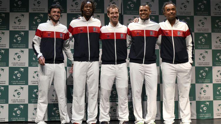 Coupe Davis 2016 (Simon, Monfils, Gasquet, Tsonga, Noah) (MIGUEL MEDINA / AFP)