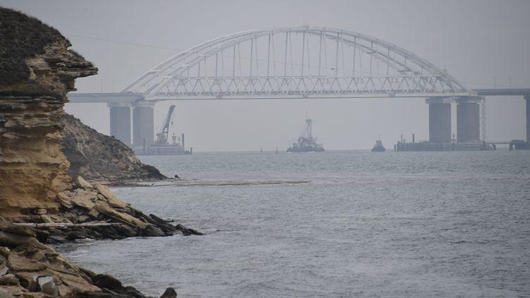 L'arraisonnement a eu lieu dans le détroit de Kertch, entre la mer Noire et la mer d'Azov. (ALEXEY MALGAVKO / SPUTNIK / AFP)