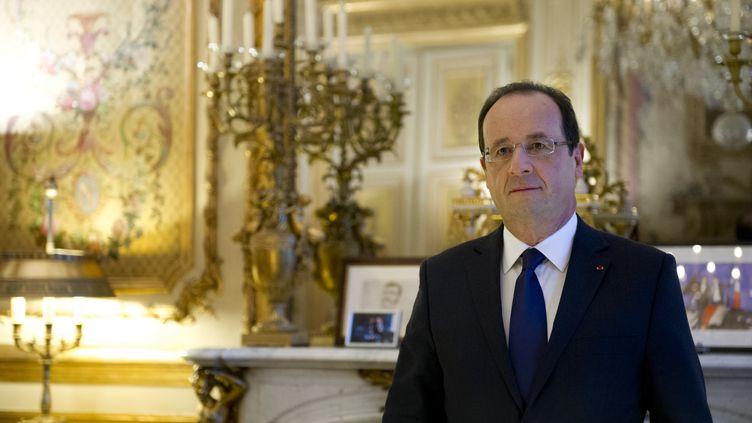 François Hollande, le 17 décembre 2012. (BERTRAND LANGLOIS / AFP POOL)