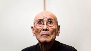 Kuniyoshi Takimoto, vétéran de l'attaque de Pearl Harbor, en décembre 2016 à Osaka (Japon) (BEHROUZ MEHRI / AFP)