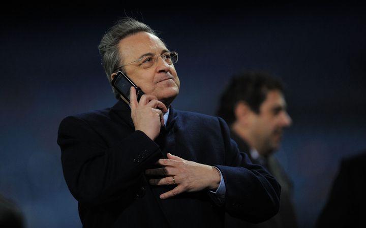 Florentino Pérez, le président du Real Madrid, le 20 janvier 2011 à Madrid (Espagne). (DENIS DOYLE / GETTY IMAGES EUROPE)