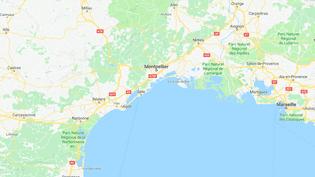 """Quatre policiers ont été blessés,le 13 février 2018, lors du """"Karnaval des gueux"""" qui s'est tenu malgré une interdiction préfectorale à Montpellier (Hérault). (GOOGLE MAPS)"""