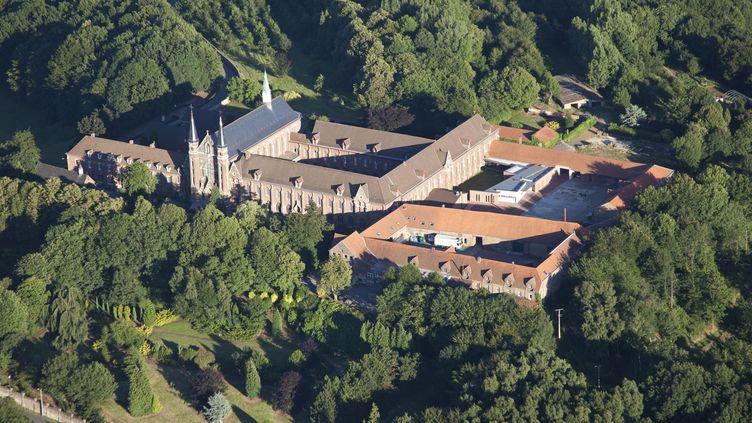 L'abbaye du Mont des Cats àGodewaersvelde dans le Nord, le 18 juillet 2010. (LECLERCQ OLIVIER / HEMIS.FR / AFP)