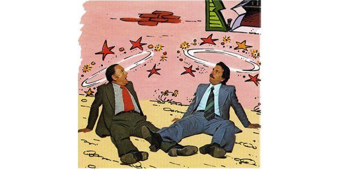 Goscinny et Tabary, créateurs d'Iznogoud  (IMAV)