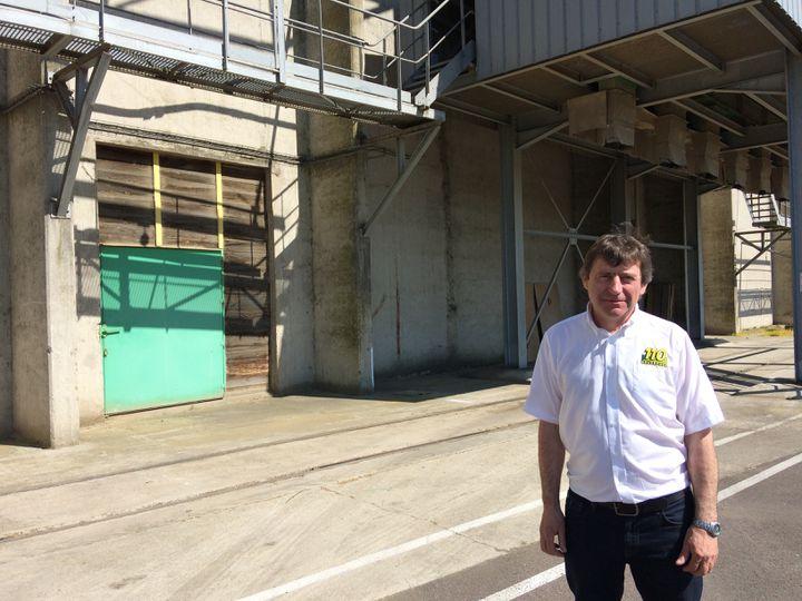 Frédéric Bottin,le responsable de la coopérative 110Bourgogne (Yonne). (ARIANE GRIESSEL / FRANCEINFO)