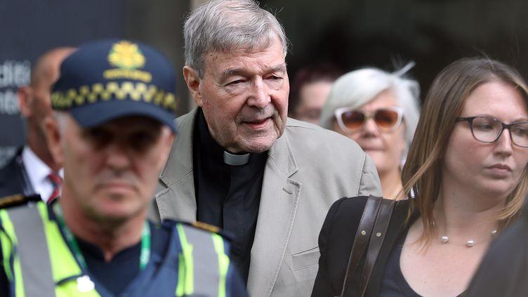Le cardinal George Pell à Melbourne, le 26 février 2019. (CON CHRONIS / AFP)