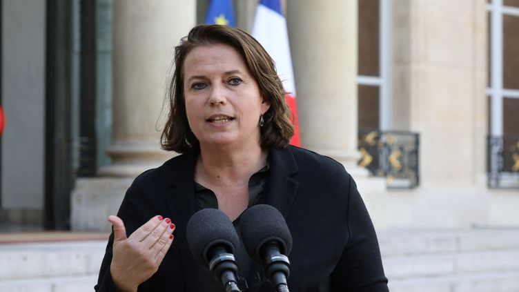 Claire Hedon au palais de l'Elysée, le 17 octobre 2017, à Paris. (LUDOVIC MARIN / AFP)