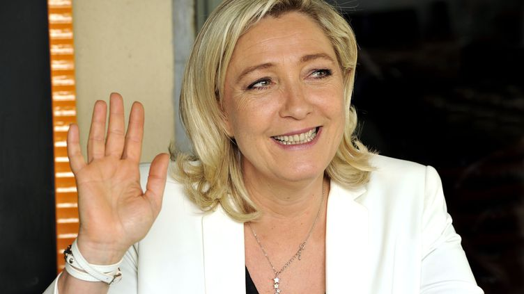 La présidente du FN, Marine Le Pen, le 19 mars 2014 à Nice (Alpes-Maritimes). (BEBERT BRUNO / SIPA)