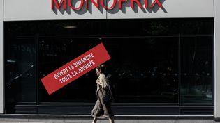 Boutique ouverte le dimanche. Photo d'illustration. (AURELIEN MORISSARD / MAXPPP)
