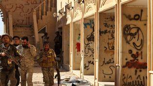 Le monastère syriaque catholique de Mar Behnam réinvesti par les troupes pro-gouvernementales irakiennes le 22 novembre.  (SAFIN HAMED / AFP)