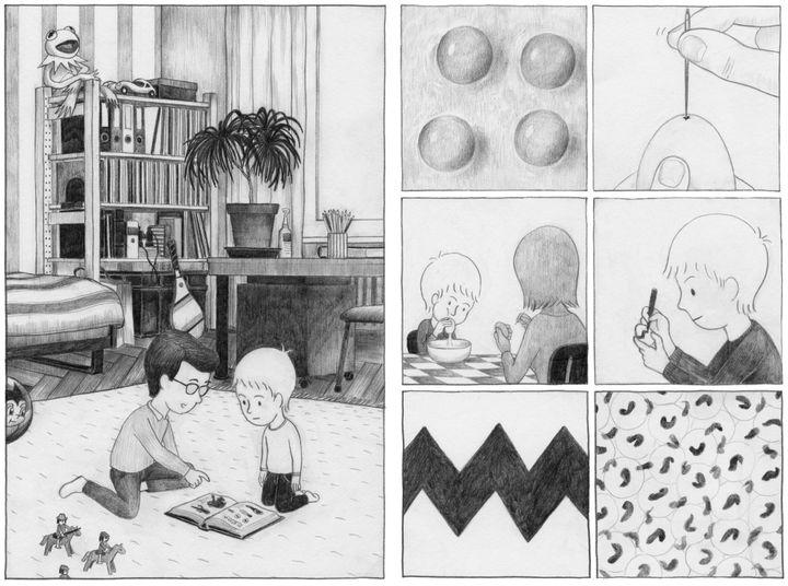 """Les Têtards"", pages intérieures  (Pascal Matthey)"