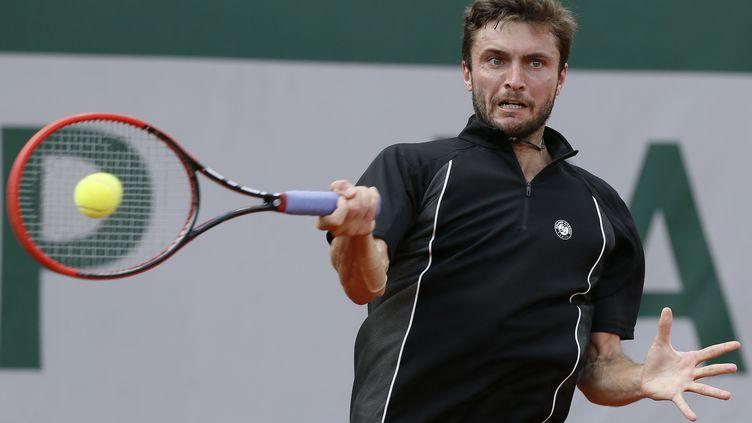 Gilles Simon en plein effort (PATRICK KOVARIK / AFP)