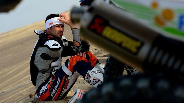 Cyril Despres (KTM) assis (FRANCK FIFE / AFP)