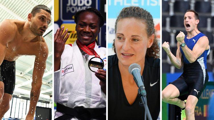 Florent Manaudou, Clarisse Agbegnenou, Mélina Robert-Michon et Renaud Lavinellie sont candidats au rôle de porte-drapeau pour la cérémonie des JO de Tokyo.
