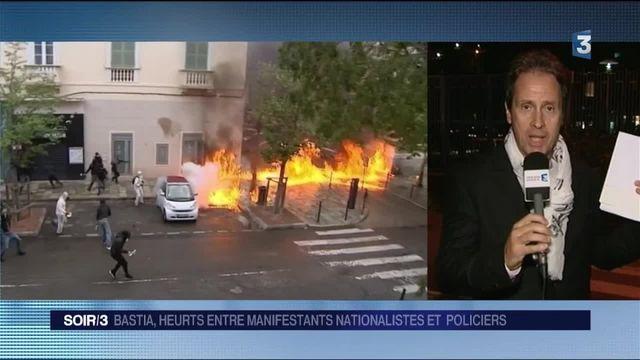 Bastia : violents affrontements entre manifestants nationalistes et policiers