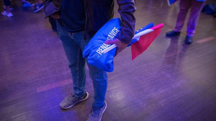 Soirée électorale pour La République en marche, qui arrive en deuxième position, après le Rassemblement national, aux élections européennes. À Paris, le 26 mai 2019. (SADAK SOUICI / LE PICTORIUM / MAXPPP)