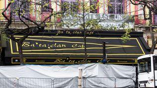 La façade du Bataclan, à Paris, le 17 novembre 2015. (GEOFFROY VAN DER HASSELT / ANADOLU AGENCY / AFP)