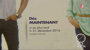 Une affiche pour inviter les Français à s'inscrire sur les listes électorales (FRANCE 2)